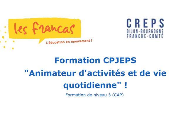 """Formation CPJEPS  """"Animateur d'activités et de vie quotidienne"""""""