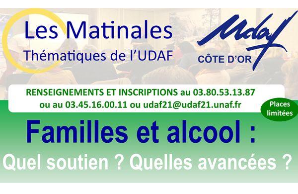 Matinale UDAF- Dépendances 21 Familles et alcool