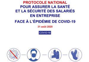Protocole national pour la santé et la sécurité des salariés