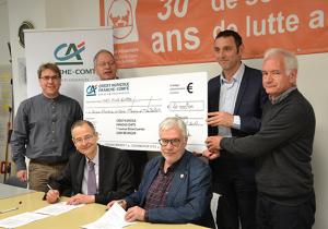 Le Crédit Agricole Franche-Comté accompagne la Banque alimentaire