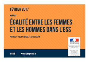 Rapport égalité entre les femmes et les hommes dans l'ESS